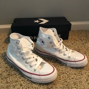 BRAND NEW! White Converse High Tops